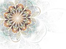 абстрактная фракталь цветка Стоковое Изображение RF