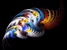 абстрактная фракталь конструкции иллюстрация вектора