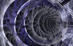 Абстрактная фракталь подняла на черную предпосылку Стоковые Фотографии RF