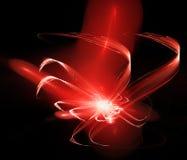 абстрактная фракталь предпосылки Светящий красный вихрь иллюстрация штока