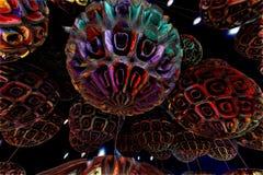 абстрактная фракталь предпосылки Стоковое Изображение