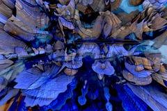 абстрактная фракталь предпосылки Стоковые Фотографии RF