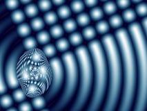 Абстрактная фракталь при сияющие точки и кривые походя варя плита Стоковое фото RF