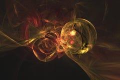 Абстрактная фракталь проиллюстрировала обои представленные предпосылкой стоковое изображение