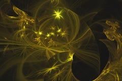 Абстрактная фракталь проиллюстрировала обои представленные предпосылкой стоковые изображения