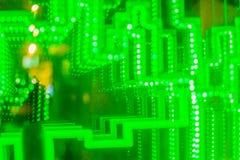 Абстрактная футуристическая зеленая предпосылка приведенная светов Моргать зеленый цвет Стоковое Фото