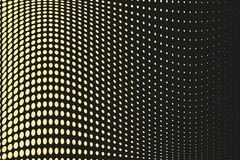 Абстрактная футуристическая картина полутонового изображения Шуточная предпосылка Поставленный точки фон с кругами, точками, боль Стоковое Изображение