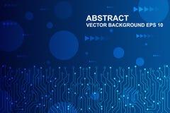 Абстрактная футуристическая монтажная плата, концепция цифровой технологии Hi-техника также вектор иллюстрации притяжки corel бесплатная иллюстрация