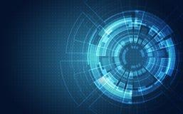 Абстрактная футуристическая монтажная плата, концепция цифровой технологии компьютера иллюстрации высокая, предпосылка вектора иллюстрация вектора