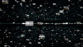 Абстрактная футуристическая предпосылка информационной технологии, кода цифровых данных иллюстрация штока