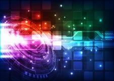Абстрактная футуристическая предпосылка цифровой технологии иллюстрация Стоковая Фотография RF