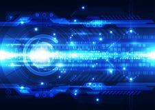 Абстрактная футуристическая предпосылка цифровой технологии иллюстрация Стоковое Изображение RF