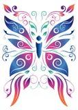 Абстрактная флористическая бабочка - дизайн вектора Стоковые Изображения