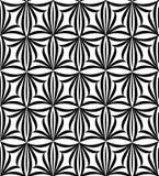 Абстрактная флористическая безшовная картина Геометрическая линия орнамент черноты Стоковое фото RF