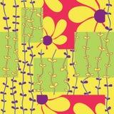 Patern цветка квадратное Стоковые Фото