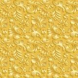 Абстрактная флористическая безшовная картина 3d Стоковые Изображения