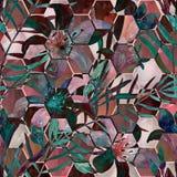 абстрактная флористическая картина безшовная Стоковая Фотография