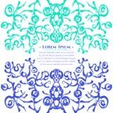 Абстрактная флористическая карточка плаката Стоковая Фотография