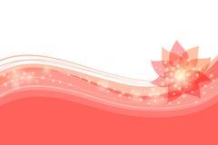 Абстрактная флористическая красная предпосылка Стоковое фото RF
