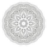 Абстрактная флористическая круговая мандала иллюстрация штока