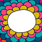 Абстрактная флористическая нарисованная вручную предпосылка doodle Стоковое фото RF