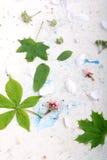 Абстрактная флористическая предпосылка в типе сбора винограда цветки на старой предпосылке акварели Стоковая Фотография