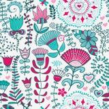 Абстрактная флористическая предпосылка, картина темы лета безшовная, wallp Стоковое Изображение RF