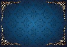 Абстрактная флористическая предпосылка с угловое флористическим Стоковая Фотография RF