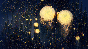 Абстрактная хаотическая структура Предпосылка с футуристической формой иллюстрация 3d Стоковая Фотография