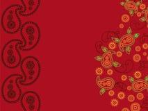 абстрактная хна paisley предпосылки Стоковое Фото