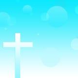 Абстрактная христианская перекрестная предпосылка Стоковые Фото