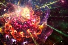 Абстрактная художественная фракталь Роза как уникальное ровное пестротканое художественное произведение как предпосылка иллюстрация вектора