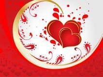 Абстрактная художническая иллюстрация вектора сердца валентинки Стоковые Изображения
