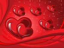 Абстрактная художническая иллюстрация вектора сердца валентинки Стоковое Изображение