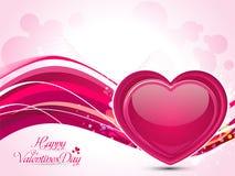 Абстрактная художническая иллюстрация вектора сердца валентинки Стоковая Фотография RF
