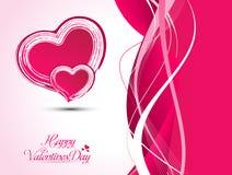 Абстрактная художническая иллюстрация вектора сердца валентинки Стоковое Фото