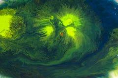 Абстрактная цветастая акварель в предпосылке воды Стоковая Фотография RF