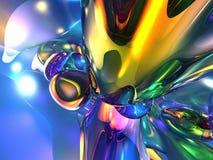 абстрактная цветастая желтая предпосылка обоев 3D Стоковое Фото