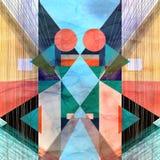 абстрактная цветастая картина Стоковое Изображение RF