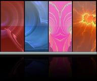 Абстрактная цветастая комната средств иллюстрация вектора