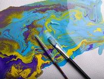 абстрактная цветастая краска Стоковые Изображения