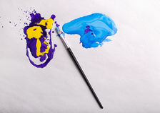 абстрактная цветастая краска Стоковые Фотографии RF