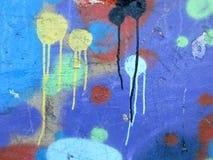 абстрактная цветастая надпись на стенах Стоковая Фотография