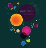 Абстрактная цветастая предпосылка в векторе Стоковые Фото