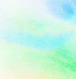 Абстрактная цветастая предпосылка акварели Стоковая Фотография