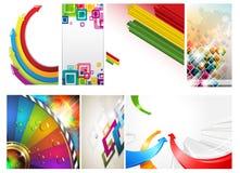 Абстрактная цветастая предпосылка стрелки и кубика Стоковая Фотография RF