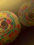 абстрактная цветастая спираль мозаики иллюстрация вектора