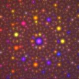 абстрактная цветастая фракталь конструкции Стоковое Изображение RF
