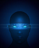 Абстрактная цепь на человеческом лице eps вектора доступен Стоковые Изображения