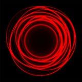 Абстрактная цепь световых маяков кривой сплетенная на векторе предпосылки красного черного дизайна современном роскошном футурист Стоковая Фотография RF